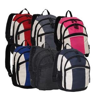 Everest 13-inch Junior Music Wire Port Backpack (Option: Dark Gray / Beige / Black)