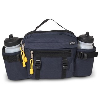 Everest 10-inch Insulated Waist Travel Pack (Option: Navy - Solid)