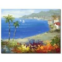 Rio 'Mideterreanean Beach' Gallery-wrapped Canvas Art