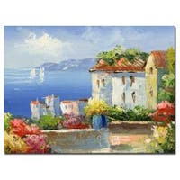 Rio 'Mideterreanean Villa' Gallery-wrapped Canvas Art