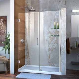 DreamLine Unidoor 51 - 55 in. Frameless Hinged Shower Door