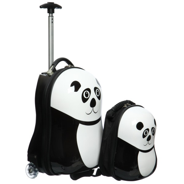 Trendykid Travel Buddies Panda 2-pc Hardside Kid's Carry On Luggage Set