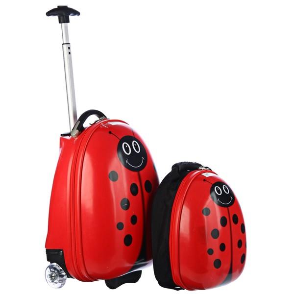 Trendykid Travel Buddies Lola Ladybug 2-pc Hardside Kid's Luggage Set