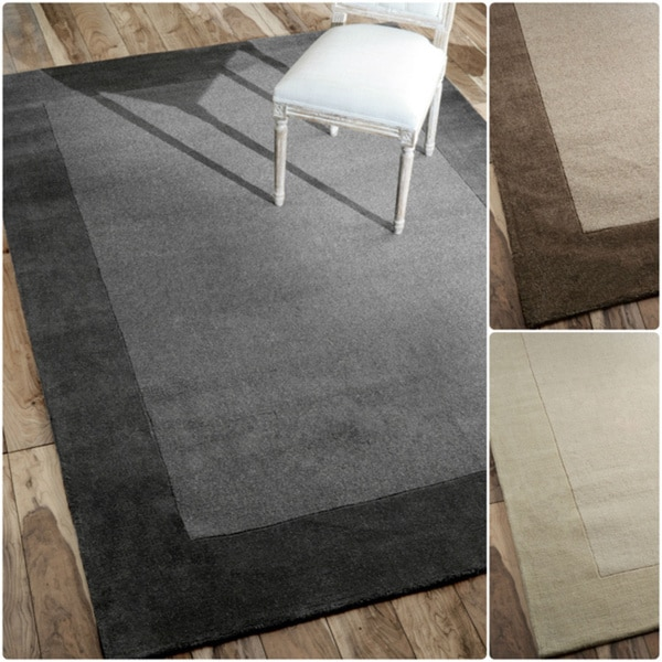 nuLOOM Handmade Marrakesh Border Wool Rug (7'6 x 9'6)