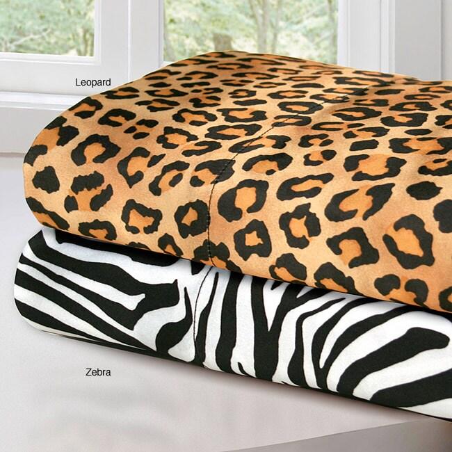 Premier Comfort Printed Satin King-size 6-piece Sheet Set