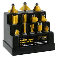 Buffalo Tools 12-piece Router Bit Set