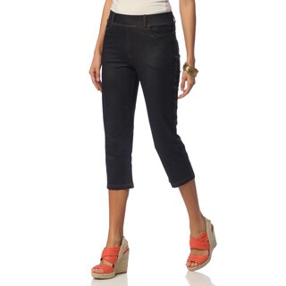 La Cera Women's Missy-Fit Denim Capris
