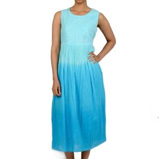La Cera Women's Ombre dip Dye Dress