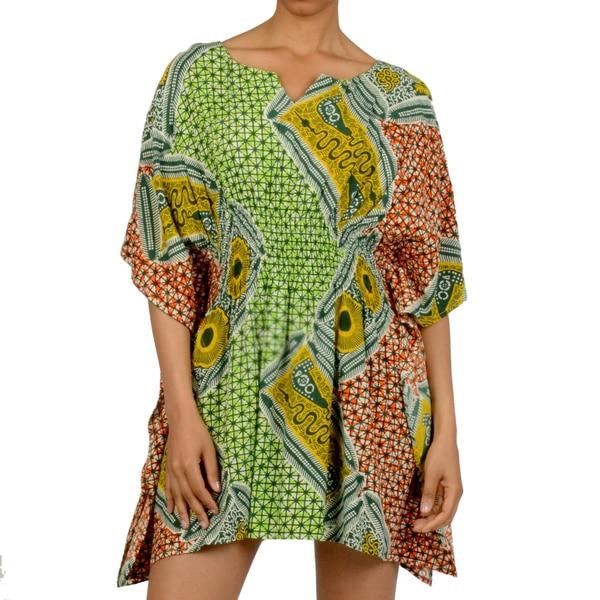 53889637aa382 Shop La Cera Women's Smock Waist Caftan Top - Free Shipping On ...