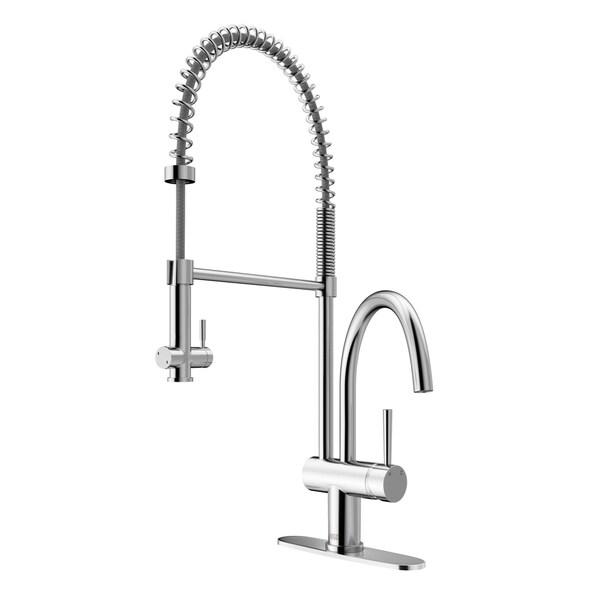 Shop VIGO Dresden Chrome Pull-Down Spray Kitchen Faucet with Deck ...