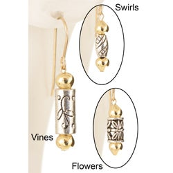 Gold Fill 14k 'Cupolas of Gold' Earrings (Pack of 3 Pairs)