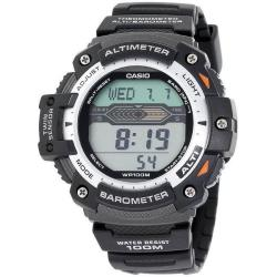 Casio Men's Black/ Silver Digital Water Resistant Twin Sensor Watch