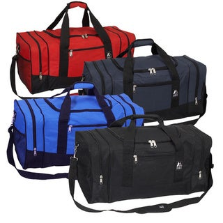 Everest 25-inch 600 Denier Polyester Sport Gear Duffel Bag (Option: Red)