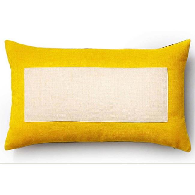 Rebel Window Vanilla/Yellow/Chocolate 12x20-inch Pillow