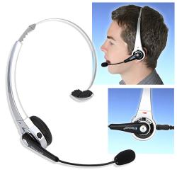 INSTEN Silver Wireless Bluetooth Headset for Sony PS3/ PS3 Slim - Thumbnail 0