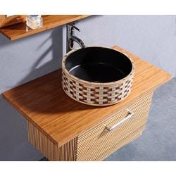 Bamboo 3-piece 35.5-inch Single Sink Vanity Set