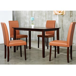 Warehouse of Tiffany 5-piece Toffee Dining Furniture Set|https://ak1.ostkcdn.com/images/products/6026550/P13708337.jpg?impolicy=medium