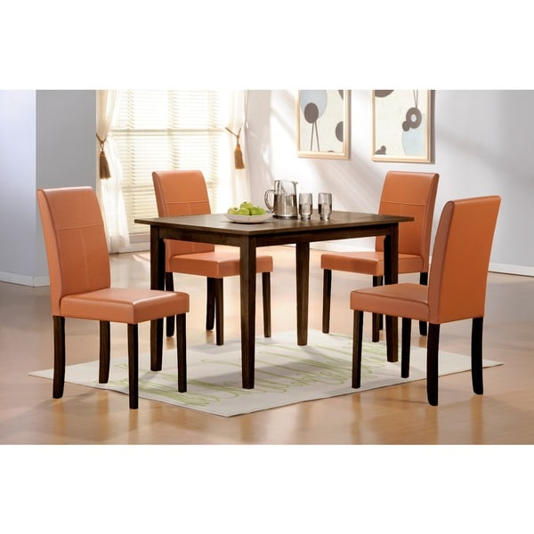 Warehouse of Tiffany 5-piece Toffee Dining Furniture Set