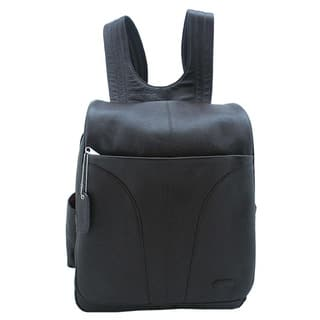 Leatherbay Dark Chocolate 15.4-inch Leather Laptop Backpack|https://ak1.ostkcdn.com/images/products/6026676/P13708442.jpg?impolicy=medium