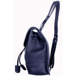 Leatherbay Black Leather Mini Backpack