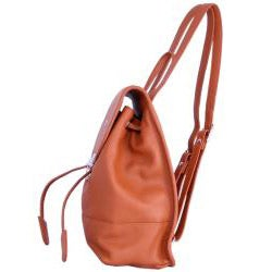Leatherbay English Tan Leather Mini Backpack - Thumbnail 1