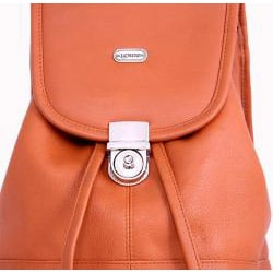 Leatherbay English Tan Leather Mini Backpack - Thumbnail 2