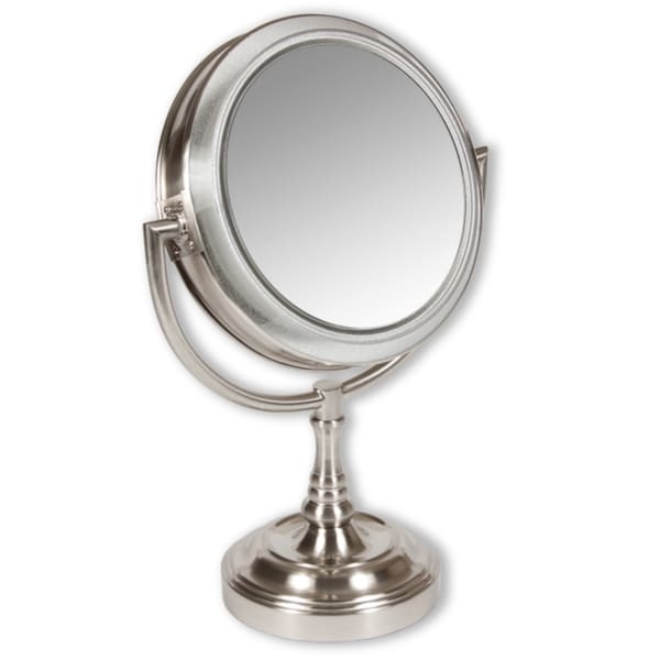Rialto Lighted 10x 1x Two Sided Vanity Mirror Free