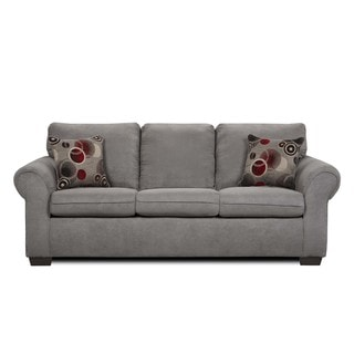 Simmons Suede Graphite Microfiber Queen size Sleeper Sofa Overstock™ Shopping Great Deals on
