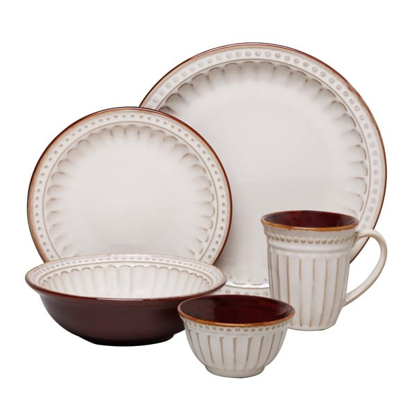 Gibson Braedon Cream 16-piece Dinnerware Set - Free ...