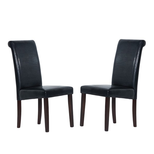 Warehouse Of Tiffany Black Dining Chairs Set 4