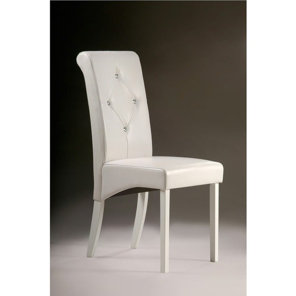 Warehouse Of Tiffany White Dining Room Chairs Set 2
