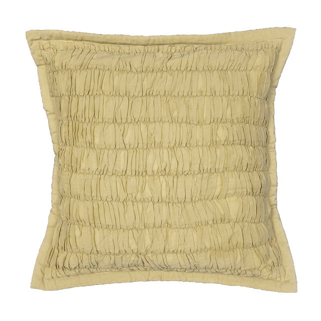 Acelin Ruched Taupe Decorative Pillow