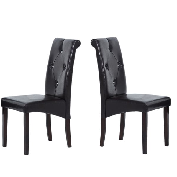 Warehouse of Tiffany Modern Brown Dining Room Chairs (Set of Four)