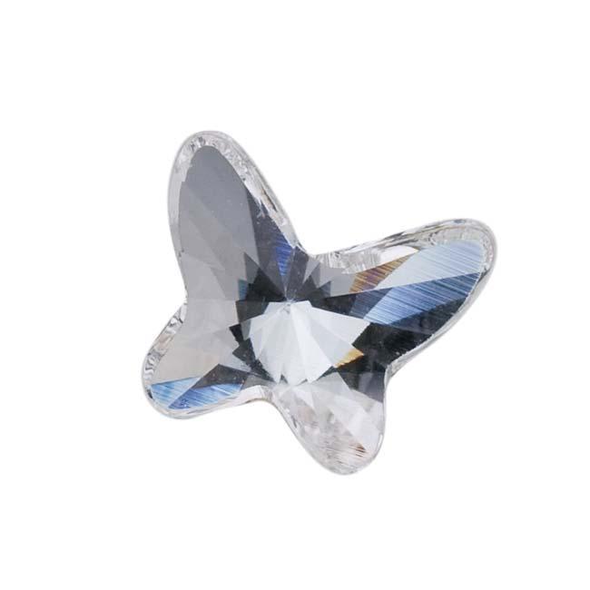 Beadaholique Crystal 8mm Austrian Clear Crystal Flatback Rhinestones (Pack of 4)