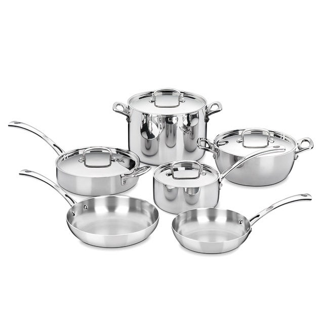 Cuisinart FCT-10 French Classic Tri-ply 10-piece Stainless Cookware Set - Thumbnail 0