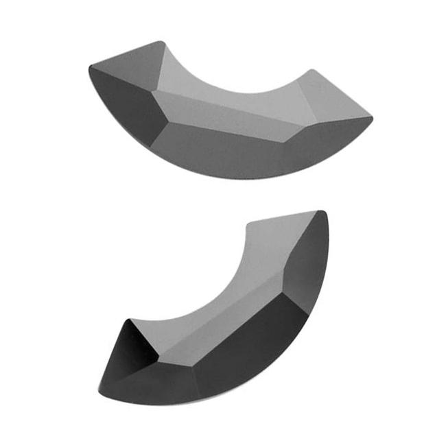 Beadaholique Jet Hematite 14mm Crystal Flatback Rhinestones (Pack of 4)