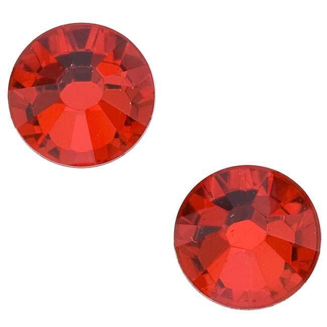 Beadaholique Light Siam ss40 Austrian Crystal Flatback Rhinestones (Pack of 8)
