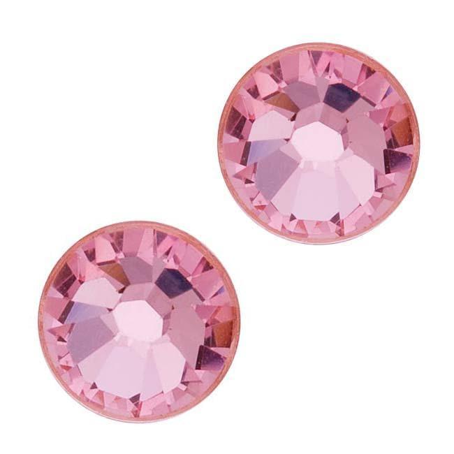 Beadaholique Light Rose ss40 Austrian Crystal Flatback Rhinestones (Pack of 8)