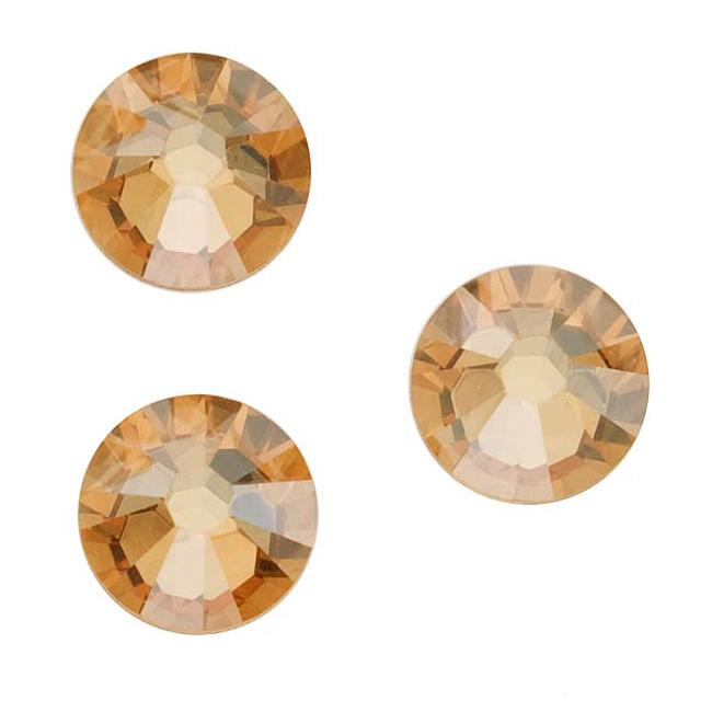 Beadaholique Crystal Golden Shadow ss30 Crystal Flatback Rhinestones (Pack of 25)