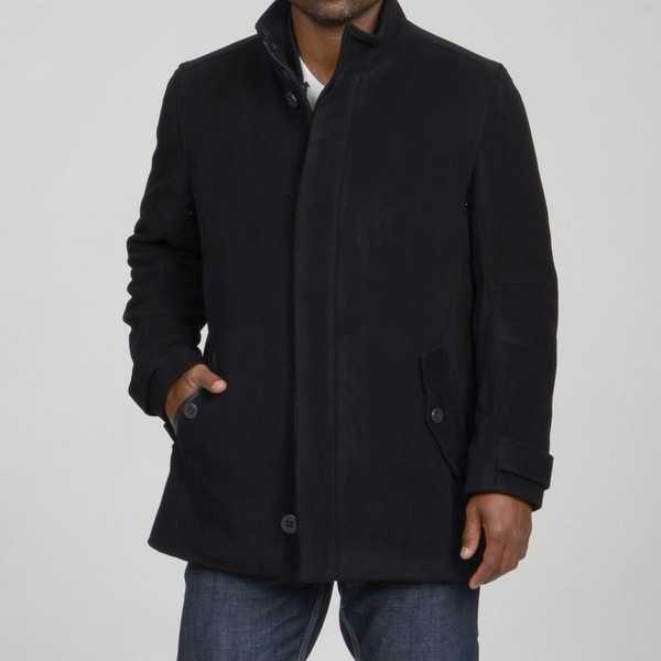 Andrew Marc Classic Fit Wool Blend Car Coat