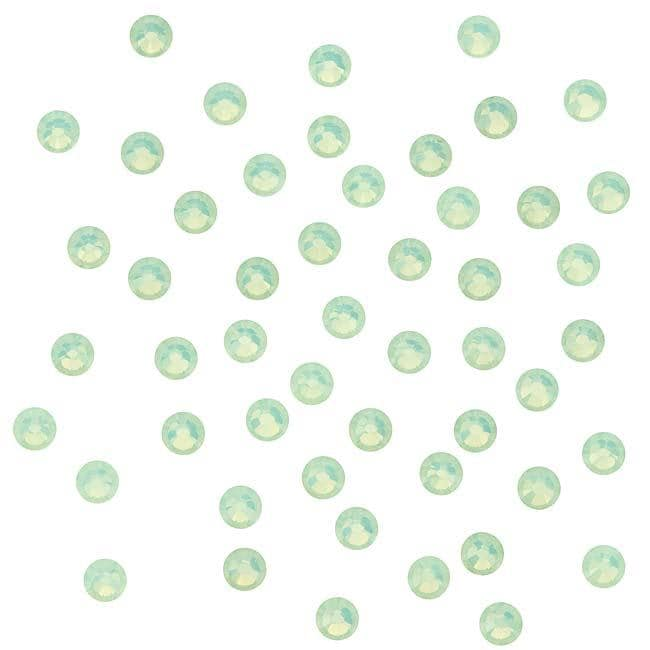 Beadaholique Chrysolite Opal ss12 Crystal Flatback Rhinestones (Pack of 50)