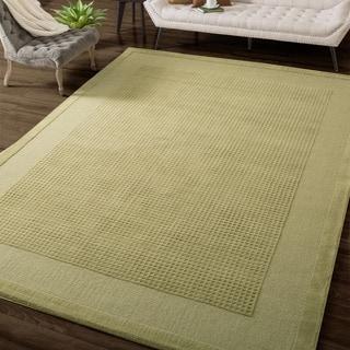 Nourison Westport Hand-tufted Sage Wool Rug (3'6 x 5'6)