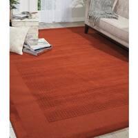 Nourison Westport Hand-tufted Spice Wool Rug (3'6 x 5'6) - 3'6 x 5'6