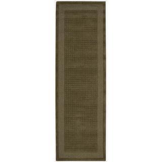 Nourison Westport Hand-tufted Mocca Wool Rug (2'3 x 7'6) Runner