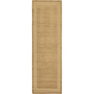 Nourison Westport Hand-tufted Sand Wool Rug (2'3 x 7'6) Runner