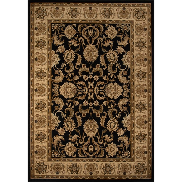 "Westminster Agra Black Power-Loomed Rug (3'3"" x 5')"