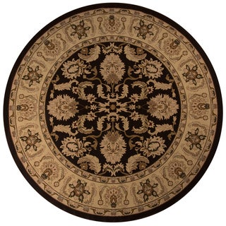 """Westminster Agra Brown Power-Loomed Rug (7'10"""" x 7'10"""" Round)"""