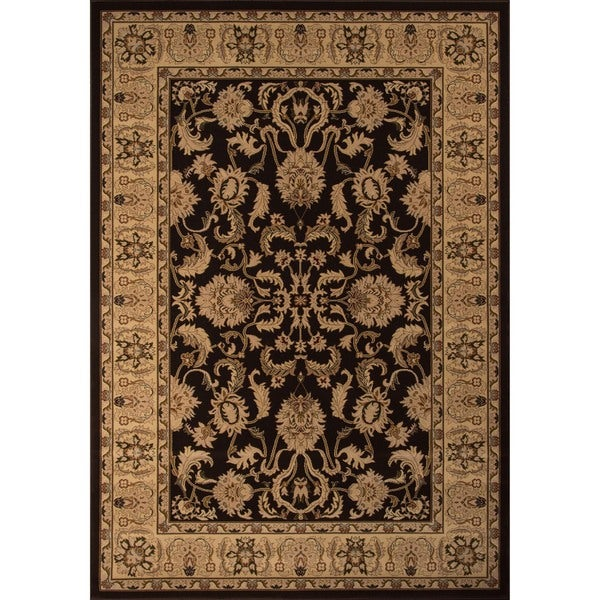 "Westminster Agra Brown Power-Loomed Rug (7'10"" x 10'10"")"