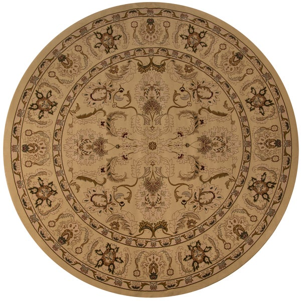 Westminster Agra Ivory Area Rug (7'10 x 7'10 Round)