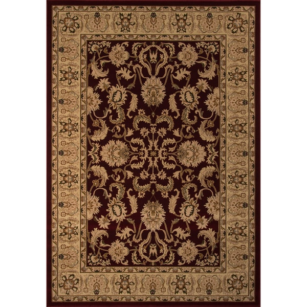 "Westminster Agra Red Power-Loomed Rug (7'10"" x 10'10"")"